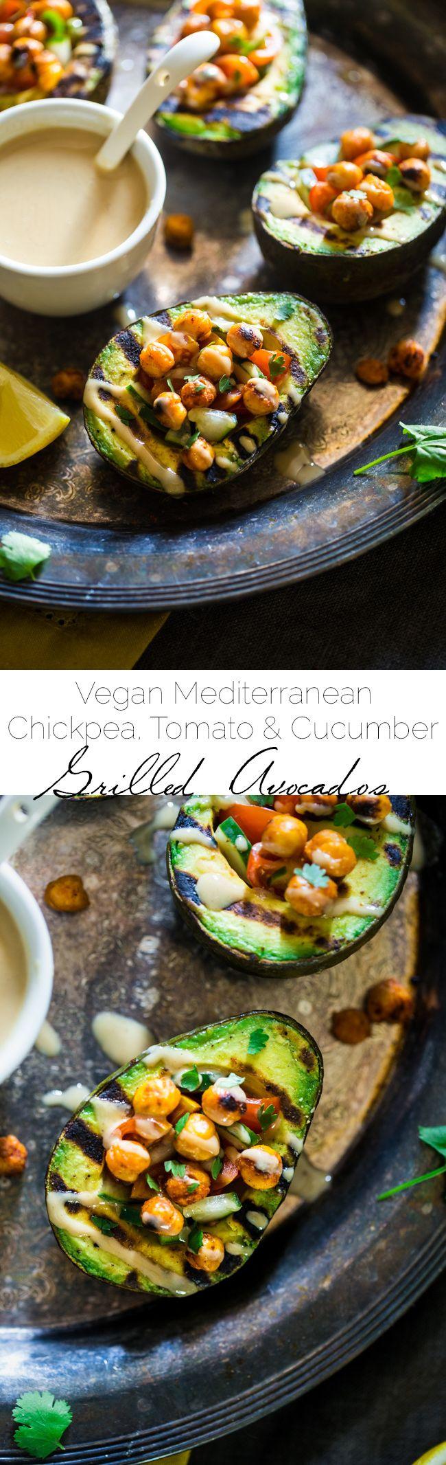Healthy recipes vegan mediterranean chickpea stuffed grilled avocado grilled avocado is - Healthy greek recipes for dinner mediterranean savour ...