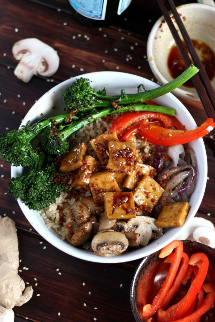 Healthy Recipes : Brown Rice Tofu Bowl + Roasted ...