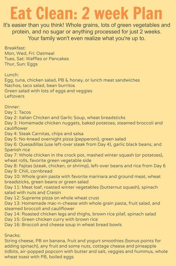 diet plan to lose weight 2 weeks worth of meal plans breakfast
