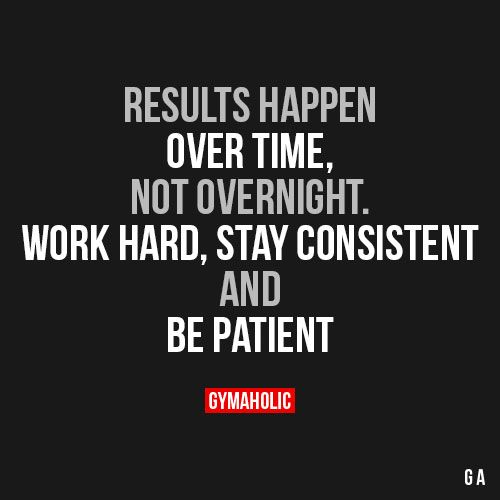 Fitness Quotes Results Happen Over Time Not Overnight Work Hard