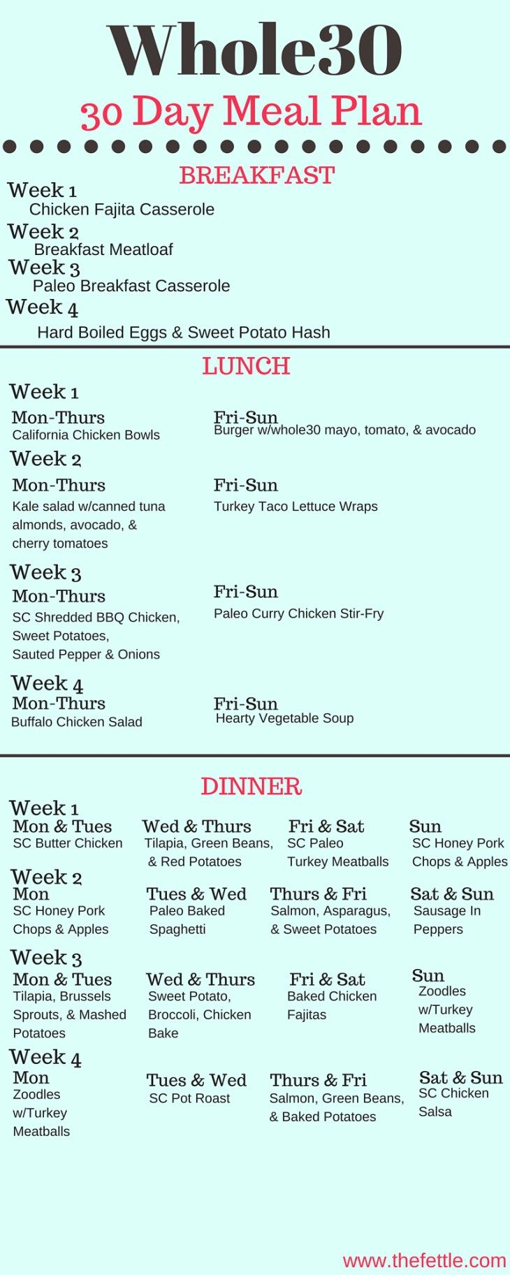Diet Plan To Lose Weight : The Whole30 Meal Plan 30 Days