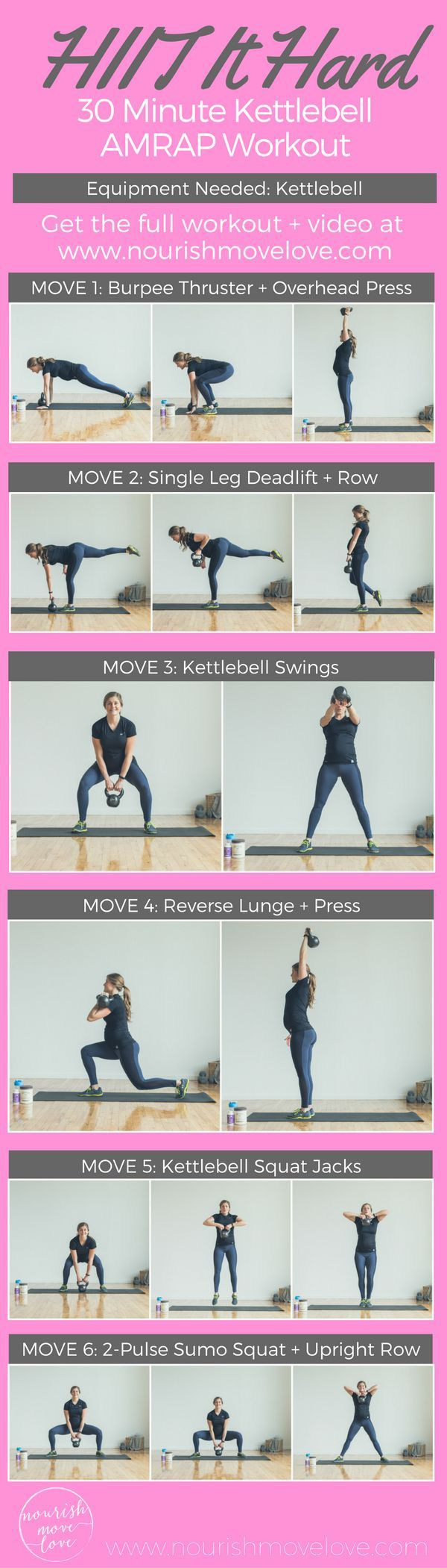 Fitness Motivation : HIIT It Hard 30-Minute Kettlebell AMRAP