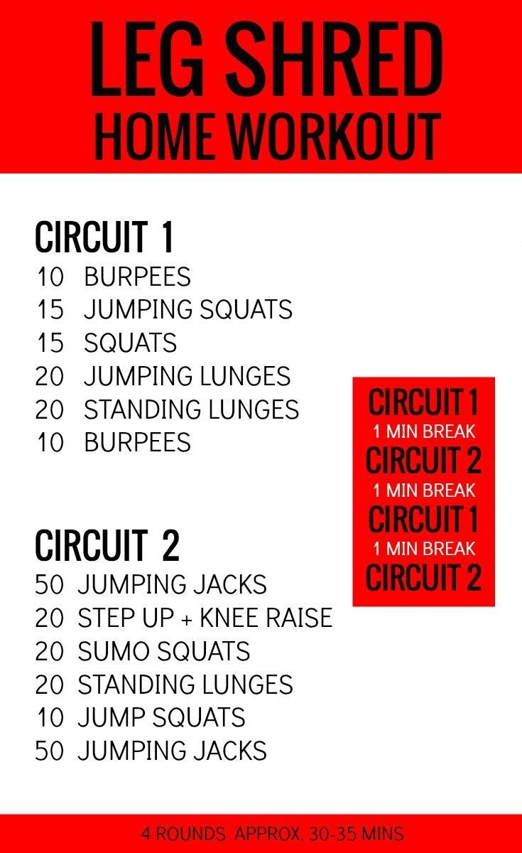 Workouts At Home Leg Workout