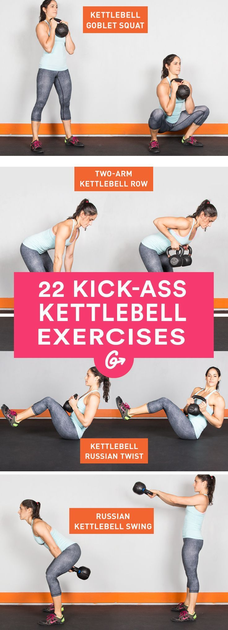 Workouts Drop The Dumbbells Here Are 22 Kettlebell Exercises On Pinterest Circuit Workout And