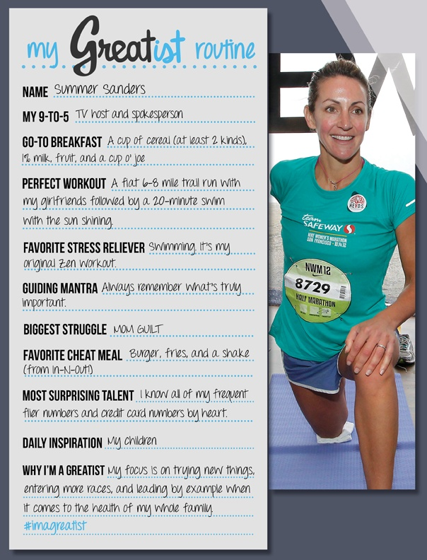 Fitness Tips Healthier Choices Summer Sanders Daily Routine